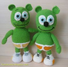 Toys from Kumutushki - Gummy Bear - my daughter want this #amigurumi !  The patterns need to be translated - but there are a lot of lovely amigurumi #crochet patterns on this site :)
