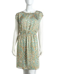 Printed Cap-Sleeve Blouson Dress by MICHAEL Michael Kors at Last Call by Neiman Marcus.