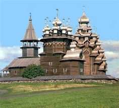 Church of Transfiguration of Our Lord. Kizhi island, Karelia...built without a single nail.