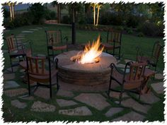 backyard fire pit- i like Fire Pit On Grass, Fire Pit Backyard, Fire Pits, Backyard Projects, Outdoor Projects, Outdoor Ideas, Backyard Ideas, Rustic Backyard, Outdoor Decor