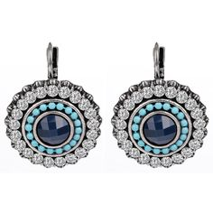 2016 New Hot Christmas Gift Luxury Earrings Silver Plated Austrian crystals 100% Handmade Fashion Jewelry Blue Clip Earrings