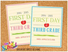8.5x11 Digital File : First Day of School Notepad Paper Sign on Etsy, $6.00