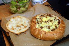 Gevuld turks brood met shoarma. Blog keukenliefde