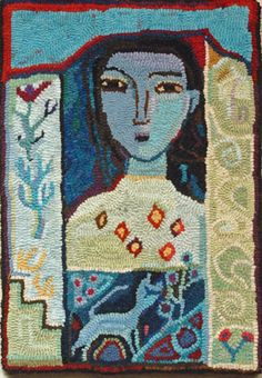 change-of-season, hooked rug by ann willey