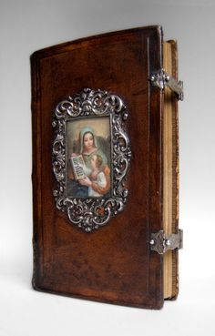 Prayer-book with framed polychrome picture