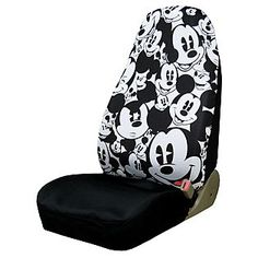 Plasticolor Mickey Mouse Expressions High Back Seat Cover Sold individually Easy to clean material Not recommended for vehicles with side airbags or side airbag sensors Walt Disney Co, Disney Home, Disney Cars, Disney Car Accessories, Mickey Mouse Car, Mickey House, Back Seat Covers, Disney Merchandise, Disney Inspired