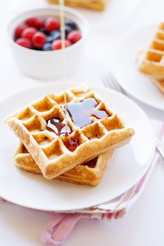 maple bacon waffles - Heather's French Press