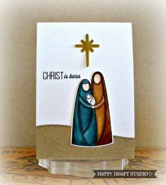 Im so glad I got the Simon Says Stamp Nativity stamp and die set. I just love how perfect it is...