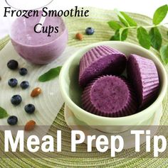 """Most of us lack time to prepare our breakfast every morning. By making a couple large smoothies using your favorite recipe at the beginning of the week, you can then pour the mix into muffin tins and freeze them for later. Next time you need a shake, stat, toss two or three """"smoothie cups"""" in a blender or just enjoy a tasty frozen treat for a quick and easy breakfast. #islandsmiracle #smoothie #healthyeating #food #breakfast #recipe #nutrition #diet #health #weightlos..."""