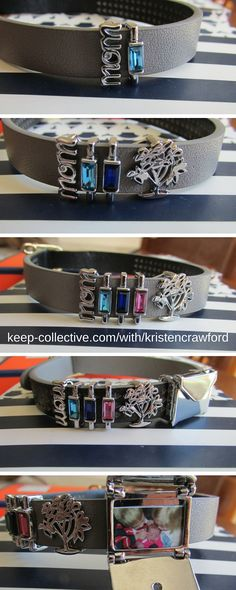 Design a KEEPer to represent the people you love the most, then add to it as your family expands! KEEP leather bracelets are totally customizable. Add an envelope locket to look at on a bad or trying day. Design yours now at keep-collective.com/with/kristencrawford