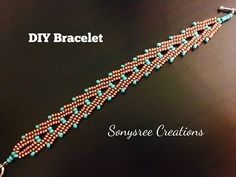 "YouTube stacked ""A"" bracelet  Herringbone Stitch"