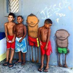 Kids of Rio de Janeiro by Osgemeos