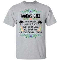 Zodiac Capricorn Girl T shirts Mind Hated By Many Loved By Plenty Hoodies Sweatshirts GPX Sagittarius Girl, Zodiac Capricorn, Zodiac Cancer, Fire Heart, Hoodies, Sweatshirts, Funny Tshirts, Hate, Mens Tops
