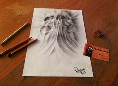 Artsy Fart of the Day: Optical Illusion Drawings So Real You'd Believe They Were Photoshopped