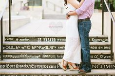 downtown los angeles engagement photography by kim le photography