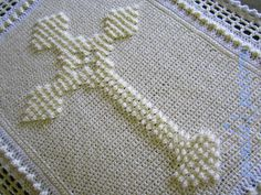 Crochet Celtic Cross PDF Pattern, Christening Blanket Cross Afghan Baptism Gift…