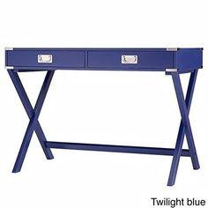 Accent Campaign Writing Desk - Kenton X (Twilight Blue)