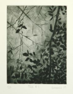 Tree no. 1 - Original drypoint via   Annamie Pretorius  Dublin,  Ireland  on Etsy