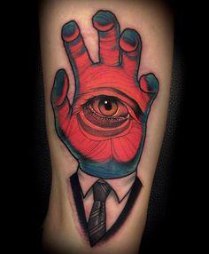 Bizarre head #tattoo by Varo Tattooer at Lighthouse Tattoo, Seoul Korea