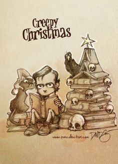Creepy Christmas Poe-addicts! We wish you a merry Christmas and we promise a 2015 full of news! Be happy! Feliz Navidad Poeadictos! Prometemos un 2015 lleno de novedades. Sed felices!