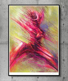 Dynamics - llustration art giclée print signed by the artist. 50 x 70 cm poster…