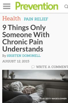 thrilled to contribute to this piece on 9 things only people with chronic pain can understand http://www.prevention.com/health/symptoms-chronic-pain?utm_content=buffer6f6b6&utm_medium=social&utm_source=pinterest.com&utm_campaign=buffer
