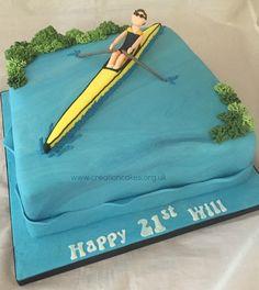 Rowing Themed 21st Birthday Cake
