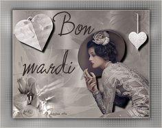 Mardi, femme, coeur, vintage