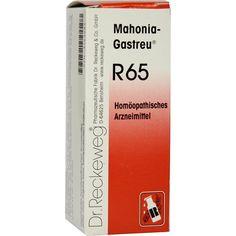 MAHONIA Gastreu R 65 Tropfen zum Einnehmen:   Packungsinhalt: 50 ml Tropfen zum Einnehmen PZN: 04163383 Hersteller: Dr.RECKEWEG & Co.…