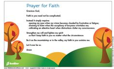 Download a Prayer of Faith and share it in your parish or home.  #Catholics #Prayer #Faith