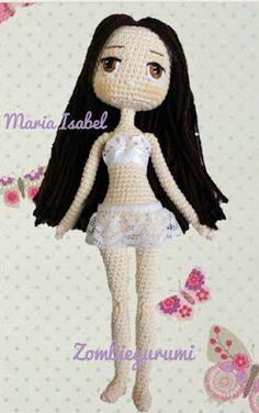 New crochet patrones amigurumis gratis ideas Crochet Amigurumi Free Patterns, Crochet Doll Pattern, Crochet Toys, Crochet Baby, Crochet Design, Crochet Doll Clothes, Doll Tutorial, Crochet Slippers, Crochet For Kids