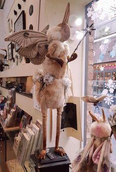 Textile Sculpture, Soft Sculpture, Sculptures, Mister Finch, English Artists, Unique Animals, Felting, Buns, Art Dolls