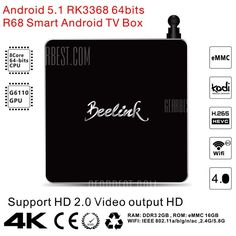 Beelink TV Box, Discount Coupon from Gearbest - Mobiles-Coupons Xbmc Kodi, Tv Box, Computer Network, Discount Coupons, Smart Tv, Wifi, Core, Android, Internet