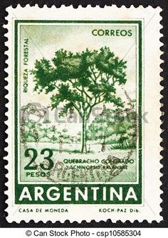 Postage stamp Argentina 1965 Red Quebracho Tree -