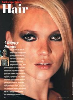 "Allure, ""Backstage Beauty Hair"", December 2000 Kate Moss"
