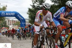 Pro Racer from Team Colombia racing with a Stradalli Bike at Richmond 2015 UCI Road World Championships