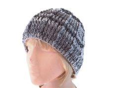 Unisex Crochet Hat in Light to Dark Grey by GreatGreenDreams, £12.00
