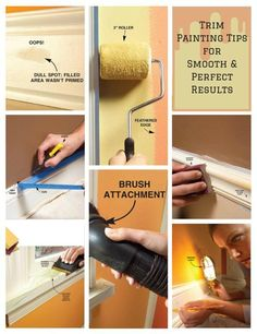 Trim Painting Tips For Smooth and Perfect Results: Our best tips for painting trim perfectly. http://www.familyhandyman.com/painting/tips/trim-painting-tips-for-smooth-and-perfect-results