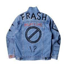 Frash Denim jacket (2.390 ARS) ❤ liked on Polyvore featuring outerwear, jackets, tops, coats & jackets, denim, jean jacket, blue jean jacket, denim jacket, blue jackets and blue denim jacket