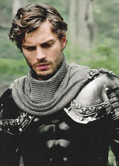 Snow- well a real knight knows how to wear armor. whatch how his eyes soften.