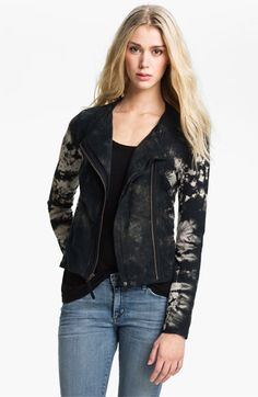 adore this--again could she make over a size 12?! Ella Moss 'Frankie' Tie Dyed Moto Jacket available at #Nordstrom