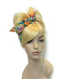 Colorful Headband, Reversible Headband, Cute Headbands, Teen Headbands, Dolly Bow Headband, Wired Headband, Polka Dot Headband, Tween by foreverandrea on Etsy