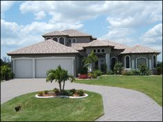The Casa Vista exterior  Cape Coral Home Builders - ARANDA HOMES - Fort Myers Home Builder - The Aranda Difference