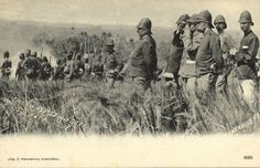 KNIL General Van Heutsz and Staff in Sumatra, Netherlands East Indes, during the Atjeh War, 1899.