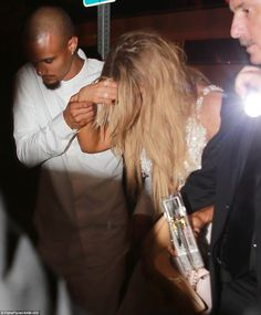 Mobing on: The reality star looked rather worse for wear