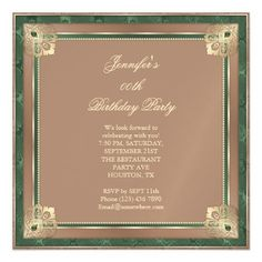Stunning Amethyst Antique Scroll Birthday Party Magnetic Card
