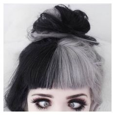 Black and white hair ❤ liked on Polyvore featuring accessories and hair accessories