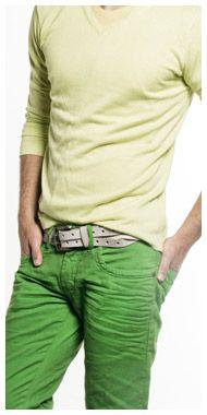 Color denim for men