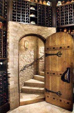 Nice entrance to the wine cave Photo D'architecture, Home Wine Cellars, Wine Cellar Design, Wine Design, The Doors, Entry Doors, Italian Wine, In Vino Veritas, Wine Storage