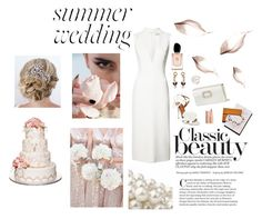 """SUMMER WEDDING:THE CLASSIC ONE"" by evagonzalez ❤ liked on Polyvore featuring Sally Lapointe, Roger Vivier, Marni, APM Monaco, Armani Beauty and Aquazzura"